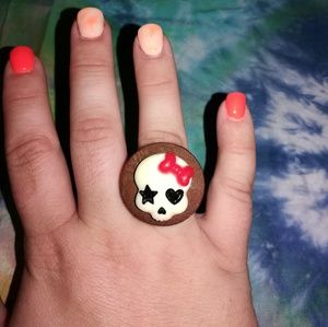 Jewelry - Handmade Wooden Skull Ring